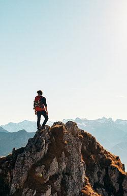 Gipfel Bergsteigen Coaching